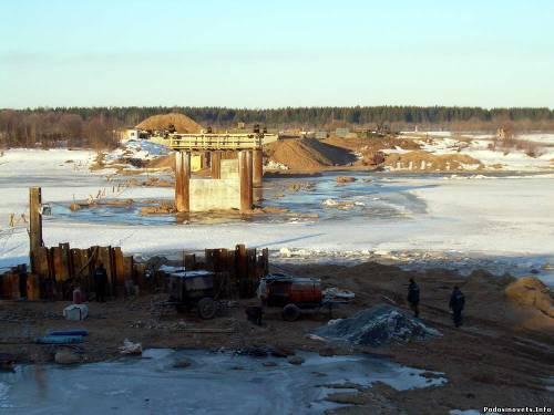 Строительство моста пгт.Подосиновец